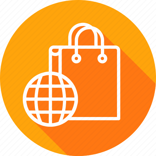 bag, carrybag, cart, earth, finance, shopping, world icon