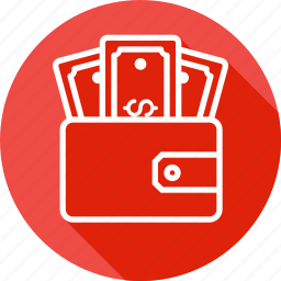 dollar, ecommerce, money, pocket, purse, wallet icon