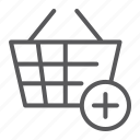 add, bucket, buy, internet, purchase, shop, shopping icon