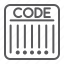 barcode, buy, code, data, retail, scanner, strip icon