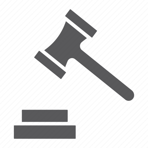 Auction, court, crime, gavel, hammer, justice, law icon - Download on Iconfinder