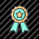 award badge, badge, ribbon icon