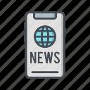 media, news paper, social icon