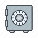 bank vault, locker, safe, vault icon