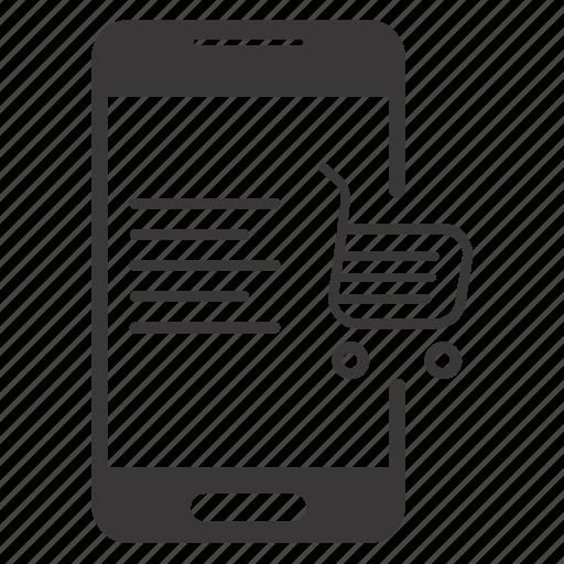 mobile shopping, online shopping, shop icon