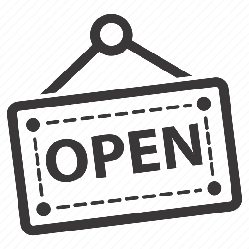 board, open shop, open sign icon