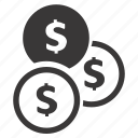 cent, coins, currency, dollar, money, save money, savings icon