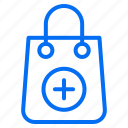 add, bag, ecommerce, new, shopping icon