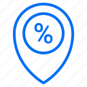 commerce, discount, ecommerce, location, percentage, sale, shopping icon