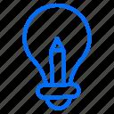 idea, innovation, innovative, lightbulb, marketing icon