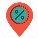 ecommerce, finance, locate, location, navigation, offer, sale icon