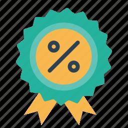 award, ecommerce, finance, medal, percentage, profit, ratio icon