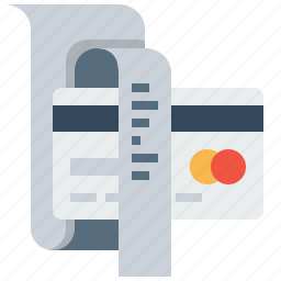 bill, card, credit, debit, details, reciept, sell icon