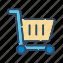 trolley, trolley bag, trolley cart icon