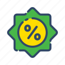 discount, label, offer, percentage, sale, sales icon