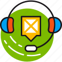 customer, headphones, help, information, microphone, service, support icon