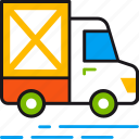 car, delivery, logistics, service, shipping, transportation, truck icon