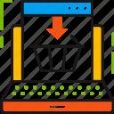 buy, cart, ecommerce, internet, laptop, online, shopping icon