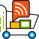 ad, buy, cart, delivery, shipping, shopping, sound icon