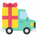 car, delivery, ecommerce, gift, shopping, transport, transportation icon