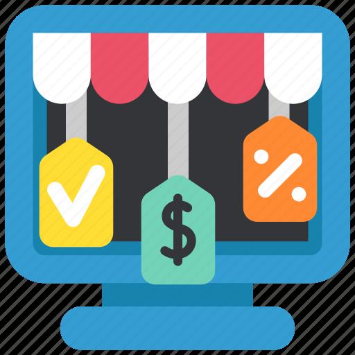 discount, ecommerce, internet, online, sale, shop, shopping icon