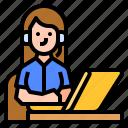 call, center, customer, service icon