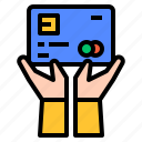 borrow, card, credit, payment icon