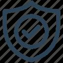 antivirus, check, e-commerce, protection, security, shield, tick icon