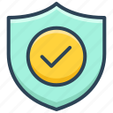 antivirus, check, e-commerce, protection, security, shield, tick icon
