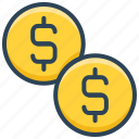 coins, currency, dollar, e-commerce, money