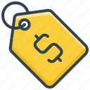 dollar, e-commerce, price tag, shopping, tag icon