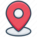 address, commerce, contact, location, map, pin, place icon