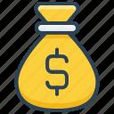 bag, dollar, e-commerce, money, sack