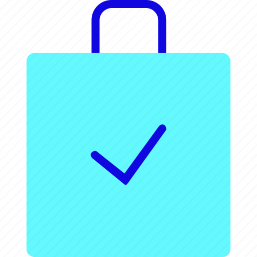 bag, briefcase, buy, ecommerce, shop, shopping, success icon