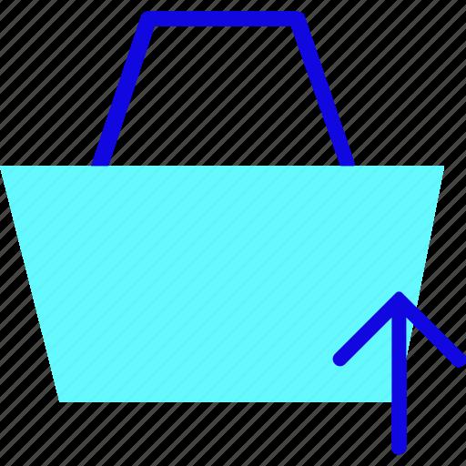 Bag, basket, briefcase, ecommerce, sale, shopping, upload icon - Download on Iconfinder