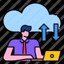 cloud, communication, connection, data, network, server