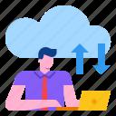 cloud, communication, data, network, server