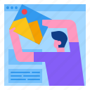 creative, design, layout, template, web, website icon