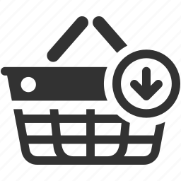 add, basket, buying, ecommerce, online, purchase, shop, shopping icon