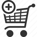 add, buy, cart, ecommerce, online, purchase, shopping icon