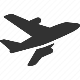 aircraft, airplane, delivery, express, plane, shipping, transport, travel icon