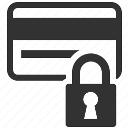 banking, business, credit card, finance, padlock, payment, protection, secure shopping, security icon