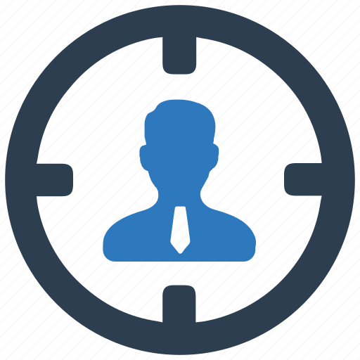 business, customer, marketing, target, target user, user icon