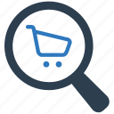 ecommerce, find, search, search shop, shop, shopping icon