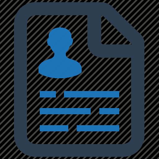 cv, document, employer, file, resume, resume document icon