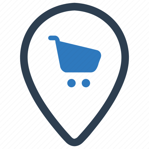 location, mall, map, place shopping, shop, shopping place icon