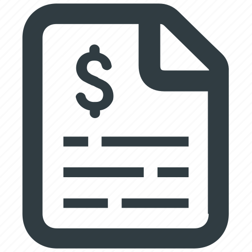 bill, cost, finanical, invoice, report, sales, statement icon