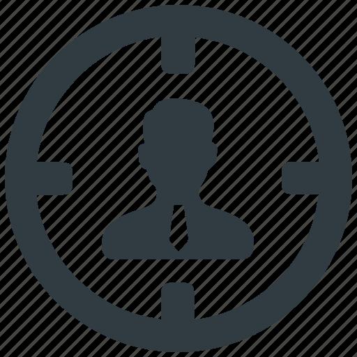 aim, business, customer, marketing, target, target user, user icon