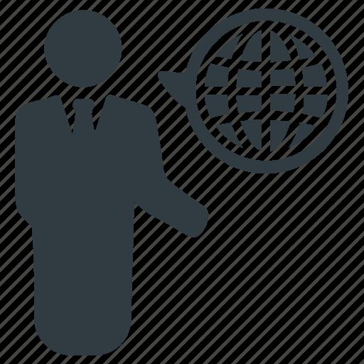 global business, global market, global user, international, universal, worldwide icon