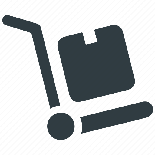 delivery, hand trolley, package, shipment, shipping, trolley icon
